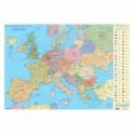 Стенна карта на Европа, 70 х 100 см., политическа