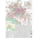 Стенна карта на София, 100 х 140 см