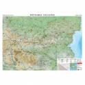 Стенна карта на България, 70 х 100 см., физикогеографска